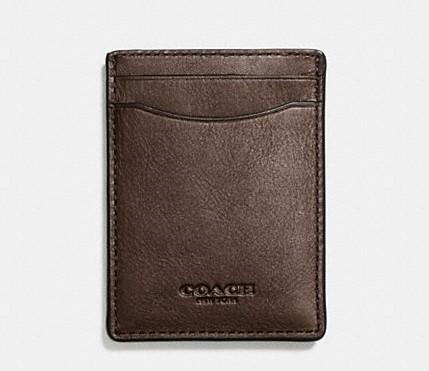 coach wallet card case